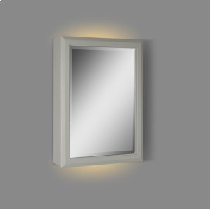 """Charlottesville 20"""" LED Medicine Cabinet - right - Light Gray Product Image"""