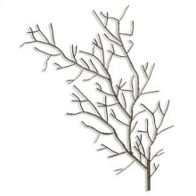 Silver Metal Tree Branch Wall Sculpture