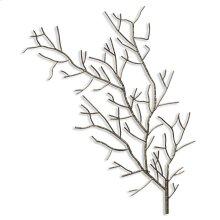 Silver Metal Tree Branch Wall Sculpture