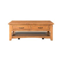 Rustic Collection Coffee Table, Honey Tobacco