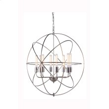 """1453 Vienna Collection Chandelier D:32"""" H:33"""" Lt:8 Polished Nickel Finish"""