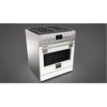 "30"" ALL GAS PRO RANGE - MATTE WHITE"