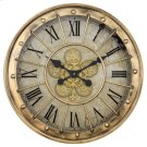 Gilded Round Gear Clock Product Image