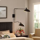 View Double Fixture Wall Lamp in Black Product Image