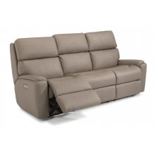 Rio Fabric Power Reclining Sofa with Power Headrests