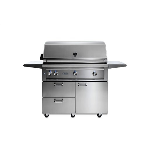 """42"""" Lynx Professional Freestanding Grill with 1 Trident and 2 Ceramic Burners and Rotisserie, LP"""