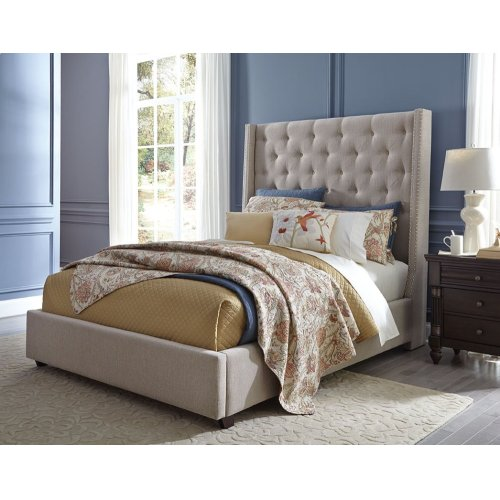 Uph. Button Tufted Bed, 6/6