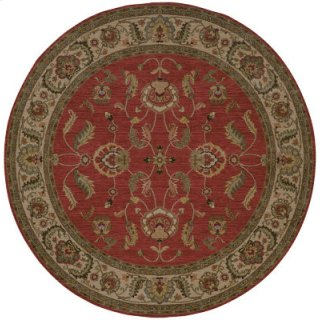Agra Red Round 8ft 8in X 8ft 8in