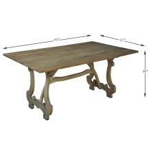 Calambac Dining Table, Driftwood Finish