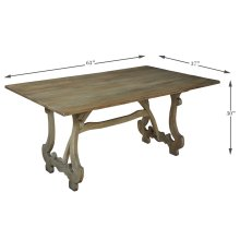 Calambac Dining Table, Driftwood Finish