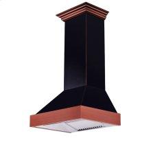 """ZLINE 30"""" Designer Series Oil-Rubbed Bronze Wall Range Hood (655-BCXXX-30) **NEW MODEL** 24"""" depth"""