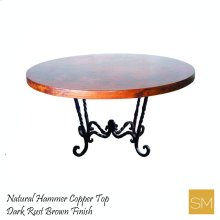 Hammer Copper Dining Table