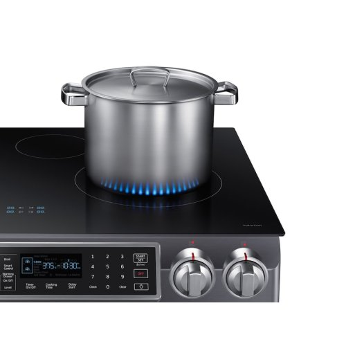 5.8 cu. ft. Slide-In Induction Range with Virtual Flame in Black Stainless Steel
