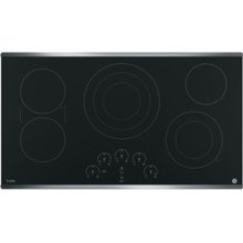 "36"" GE Profile Electric Cooktop with Built-In Touch Control"