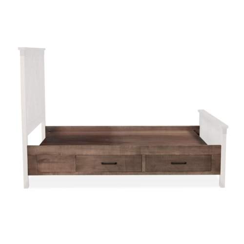 Montauk 2-Drawer Under-Bed Storage, Two Drawers Single Side Only, fits Twin,