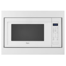 27 in. Trim Kit for Countertop Microwaves - White