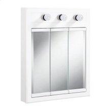 """Concord Lighted Medicine Cabinet Mirror 24"""", White #532374"""