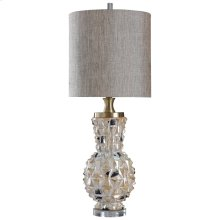 WHEATON TABLE LAMP  Distressed Opal Finish on Ceramic Body with Crystal Base  Hardback Shade  150