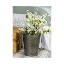 Magnolia Logo Metal Milk Bucket