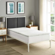 "Relax Twin 2"" Gel Memory Foam Mattress Topper"