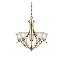 Dover 5 Light Chandelier Antique Brass