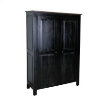 CC-CAB1226TLD-ABSV  Cottage Cabinet  Antique Black/ Salvage Top