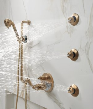 Tempassure® Thermostatic Valve With Integrated 6-function Diverter Trim - Less Handles Product Image