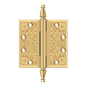 "4 1/2""x 4 1/2"" Square Hinges - PVD Polished Brass Product Image"