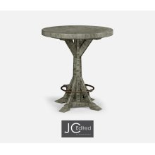 "36"" Antique Dark Grey Bar Table"