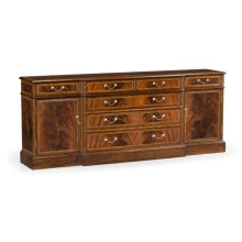 Mahogany office sideboard with hanging file storage