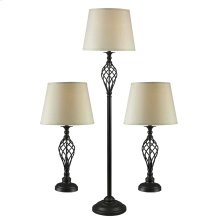Avett - 3-Pack: Two Table Lamps, One Floor Lamp