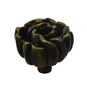 Solid brass rosette-shaped knob. Product Image