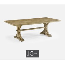 "90"" Solid Light Driftwood Dining Table"