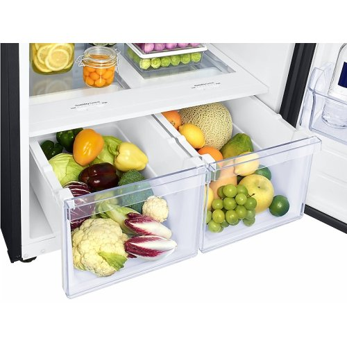 18 cu. ft. Top Freezer Refrigerator with FlexZone in Black Stainless Steel
