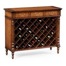 Free Standing Walnut Wine Cabinet