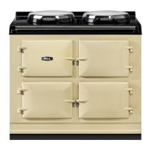 """AGA Total Control 39"""" Electric Cream with Stainless Steel trim"""