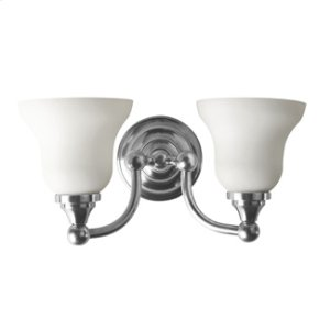 Kingston Double Wall Light With Frosted Glass Shades Product Image