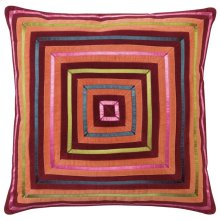 Zoe Pillow, BURGUNDY, 22X22