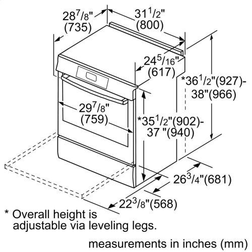 800 Series Induction Slide-in Range 30'' Stainless steel