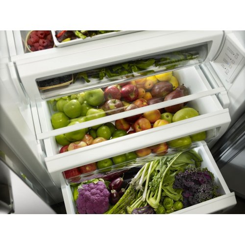 30.0 cu. ft 48-Inch Width Built-In Side by Side Refrigerator with PrintShield™ Finish - Stainless Steel