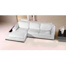 Divani Casa Soho Modern White Leather Sectional Sofa