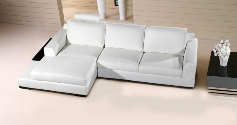 Fine Divani Casa Soho Modern White Leather Sectional Sofa Ocoug Best Dining Table And Chair Ideas Images Ocougorg