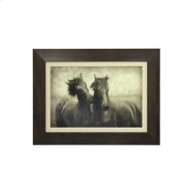 Horses Don't Whisper Textured Print Custom Framed