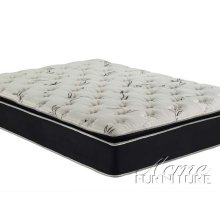 Cicely Black Suede California King Pillow Top Mattress Set