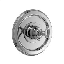 Pressure Balance Shower Valve Trim Only - Cross Handle - Polished Chrome