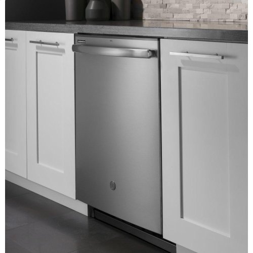 GE® Smart Hybrid Stainless Steel Interior Dishwasher with Hidden Controls