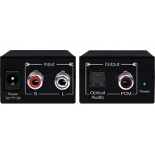 Analog L/R Audio to PCM Coaxial Digital and Optical Digital Audio Converter