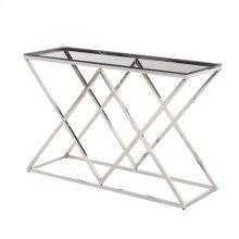 Silver/glass Diamond Console Table, Kd