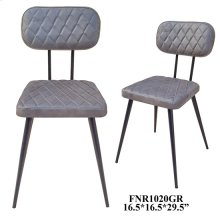 IRON CHAIR/ GENUINE LEATHER CUSHIONED SEAT, 4 PK/5.4'