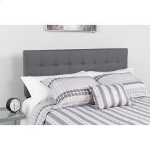 Bedford Tufted Upholstered Queen Size Headboard in Dark Gray Fabric